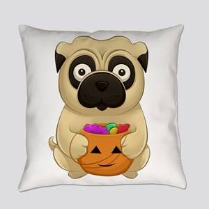 A Pug Halloween Everyday Pillow