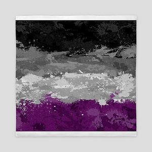Asexual Paint Splatter Flag Queen Duvet