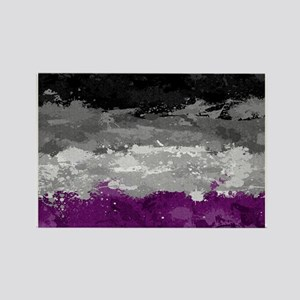 Asexual Paint Splatter Flag Rectangle Magnet