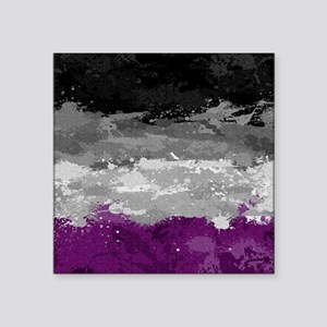 "Asexual Paint Splatter Flag Square Sticker 3"" x 3"""