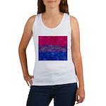 Bisexual Paint Splatter Flag Women's Tank Top