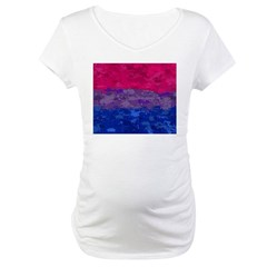 Bisexual Paint Splatter Flag Shirt