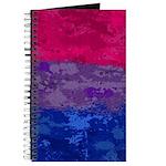 Bisexual Paint Splatter Flag Journal