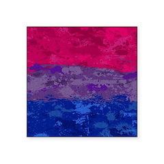 Bisexual Paint Splatter Fla Square Sticker 3