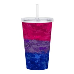 Bisexual Paint Splatte Acrylic Double-wall Tumbler