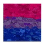 Bisexual Paint Splatter Flag Tile Coaster