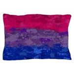 Bisexual Paint Splatter Flag Pillow Case
