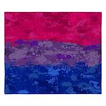 Bisexual Paint Splatter Flag King Duvet