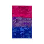 Bisexual Paint Splatter Flag Area Rug