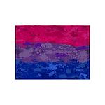 Bisexual Paint Splatter Flag 5'x7'Area Rug