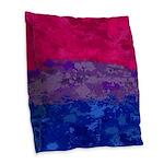 Bisexual Paint Splatter Flag Burlap Throw Pillow