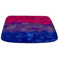 Bisexual Paint Splatter Flag Bathmat