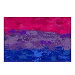 Bisexual Paint Splatter F Postcards (Package of 8)