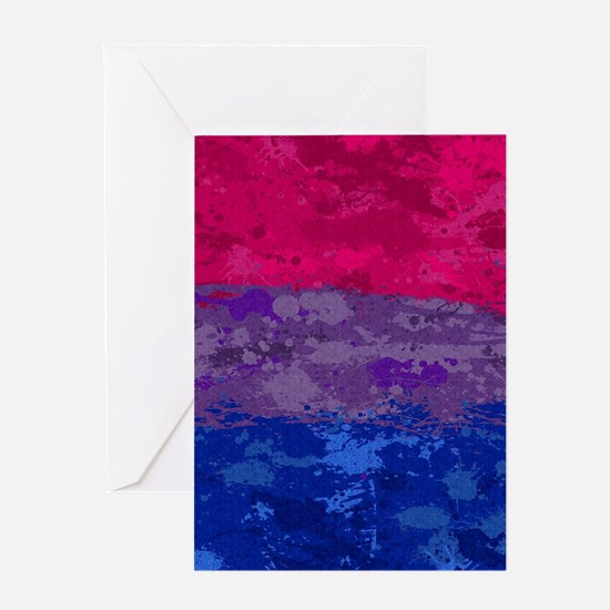 Bisexual Paint Splatter Flag Greeting Card