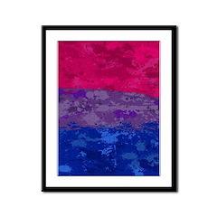Bisexual Paint Splatter Flag Framed Panel Print