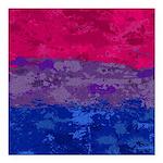 Bisexual Paint Splatter Square Car Magnet 3
