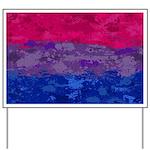 Bisexual Paint Splatter Flag Yard Sign