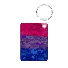 Bisexual Paint Splatter Fl Keychains