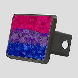 Bisexual Paint Splatter Fl Rectangular Hitch Cover