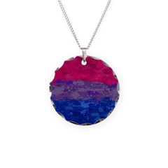 Bisexual Paint Splatter Flag Necklace