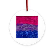 Bisexual Paint Splatter Flag Round Ornament