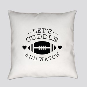 Cuddle And Football Everyday Pillow