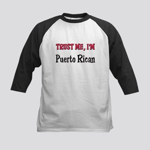 Trust Me I'm a Puerto Rican Kids Baseball Jersey