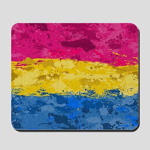 Pansexual Paint Splatter Flag Mousepad