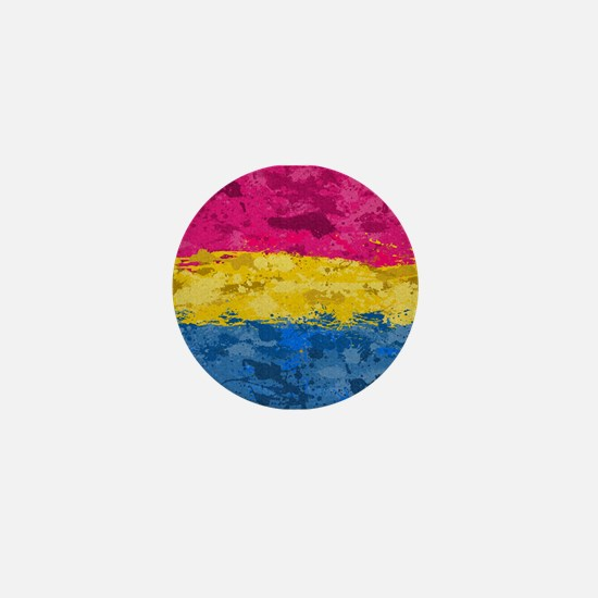Pansexual Paint Splatter Flag Mini Button