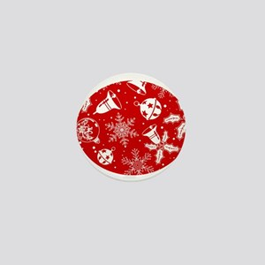 Red Christmas Pattern Mini Button