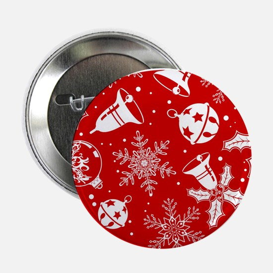 "Red Christmas Pattern 2.25"" Button (10 pack)"