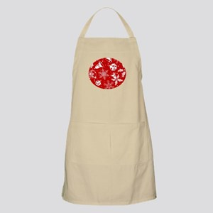 Red Christmas Pattern Apron