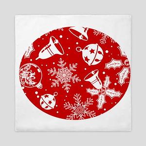 Red Christmas Pattern Queen Duvet
