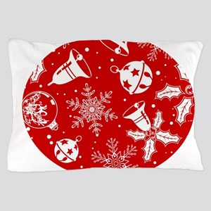 Red Christmas Pattern Pillow Case