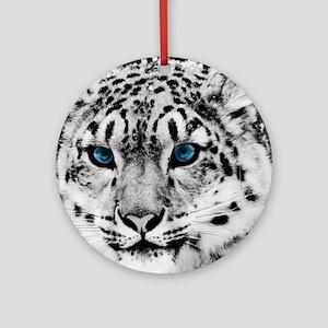 Leopardo Snow Round Ornament
