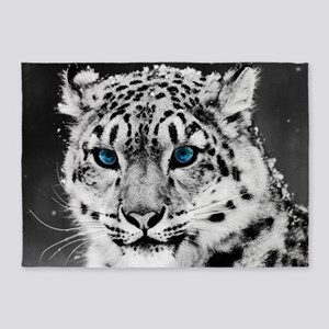 Leopardo Snow 5'x7'Area Rug
