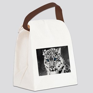 Leopardo Snow Canvas Lunch Bag
