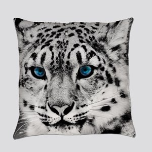 Leopardo Snow Everyday Pillow