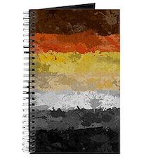 Bear Paint Splatter Flag Journal