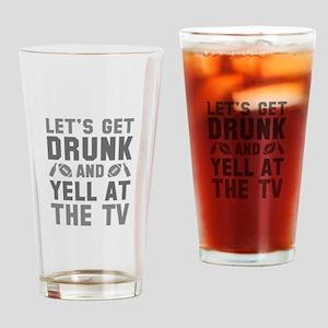 Drunk Football Drinking Glass