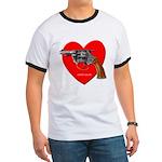 Ad Free Love Gun Visual Shirt Ringer T