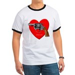 Ad Free Love Gun Visual Shirt Ringer T