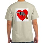 Ad-Free Love Gun Ash Grey T-Shirt