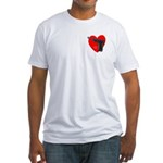 Ad-Free Love Gun Fitted T-Shirt design