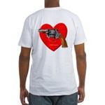 Ad-Free Love Gun Fitted T-Shirt