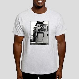 Brains, 25 cents Ash Grey T-Shirt