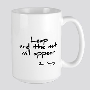 Leap and the net will appear Large Mug