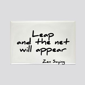 Leap and the net will appear Rectangle Magnet