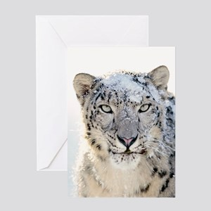 Leopard Winter Greeting Cards