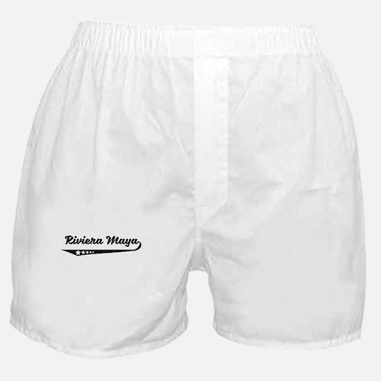 Riviera Maya Mexico Retro Logo Boxer Shorts